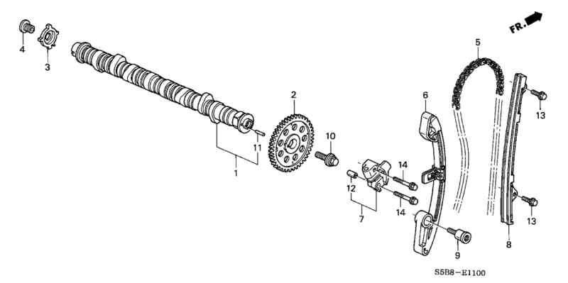 Find Genuine Honda OEM 14510-PWA-004 Timing Chain