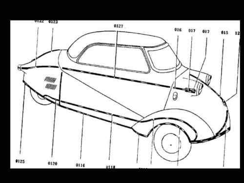 Purchase MESSERSCHMITT KR-200 201 PARTS MANUALs
