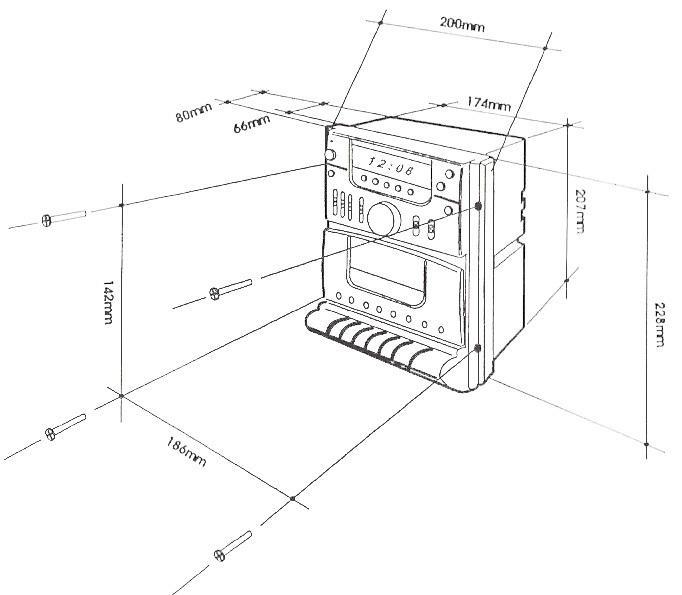 Buy 12V Encore 7695 Wall Mount RV Stereo Cassette Radio