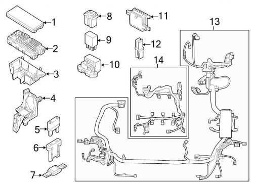 Purchase Ford OEM Engine Wiring Harness CT1Z14290A Image 8