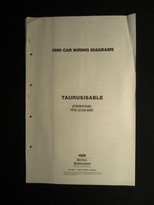 1999 Ford Taurus Mercury Sable Wiring Diagram Manual Original