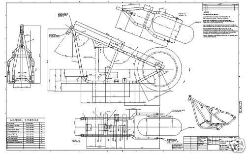 Find Custom Chopper Softail Harley Frame Plans Blueprint
