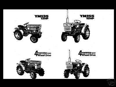 Buy YANMAR YM135 YM135D YM155 YM155D SERVICE MANUAL 160pg