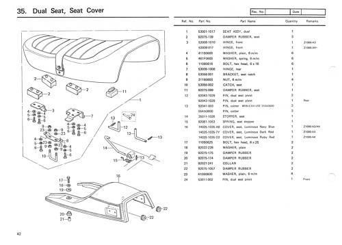 Purchase KAWASAKI Parts Manual KZ1000 Z1000 ROW MKII 1979