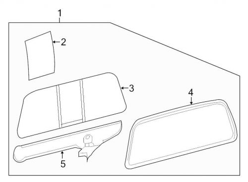 Find Ford OEM Back Glass 9C3Z25422B30A Image 1 motorcycle
