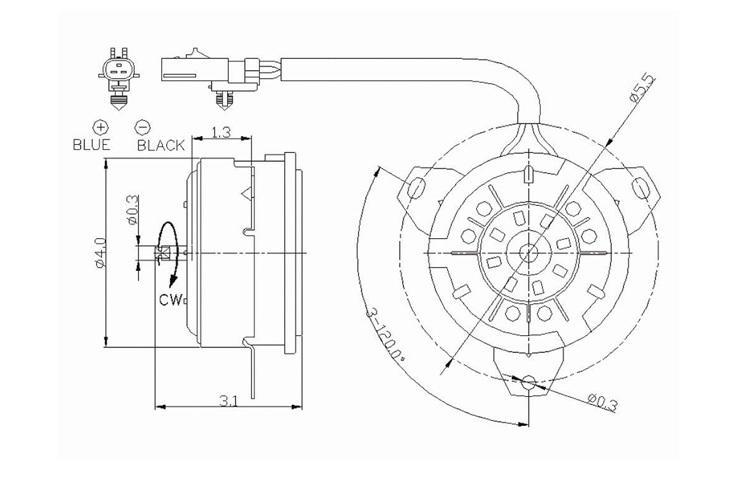 Find AC Condenser Radiator Cooling Fan Motor 1999-2004
