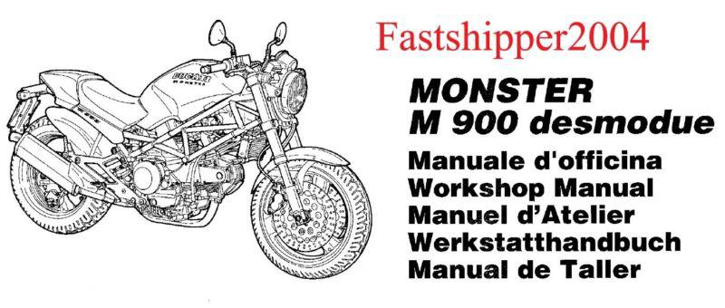 Purchase Ducati M900 M 900 Monster Motorcycle Shop Service
