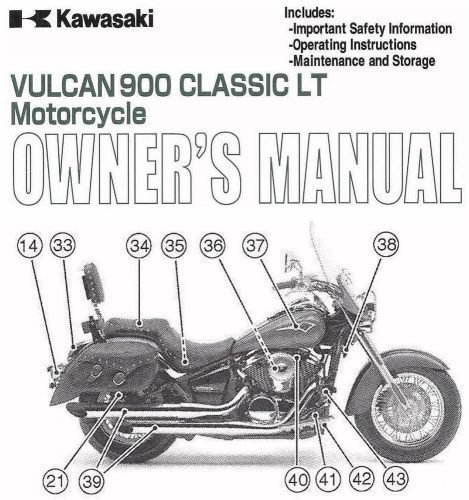 Buy 2009 KAWASAKI VULCAN 900 CLASSIC LT MOTORCYCLE OWNERS