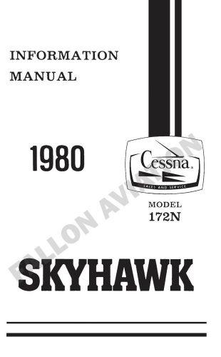 Buy Cessna 172N (160HP) 1980 Pilot's Information Manual
