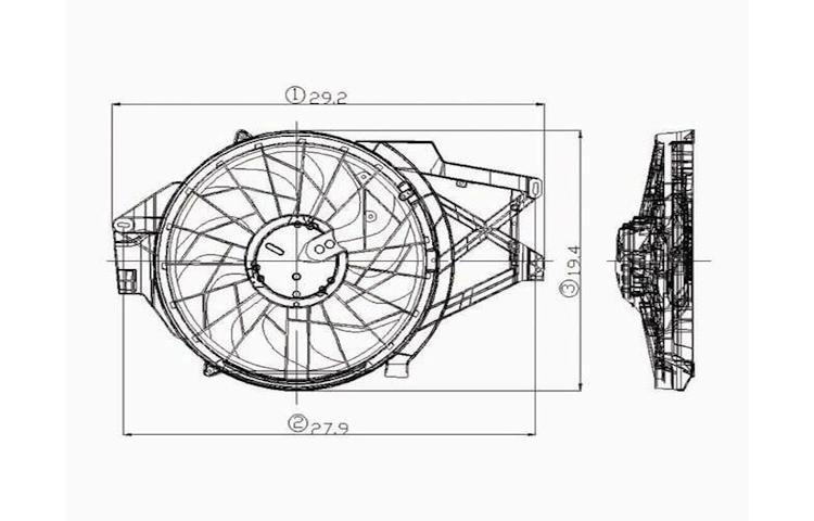 Find Radiator Cooling Fan Assembly 90-95 91 92 93 94 Mazda