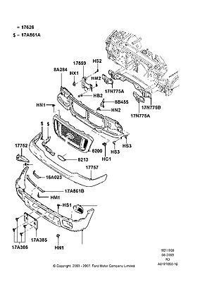 Find 4L5Z8200DAJ Grille Assy Radiator 04 05 Ranger