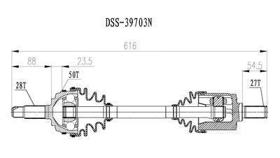 Find DIVERSIFIED SHAFTS 39703N CV Half-Shaft Assembly-CV