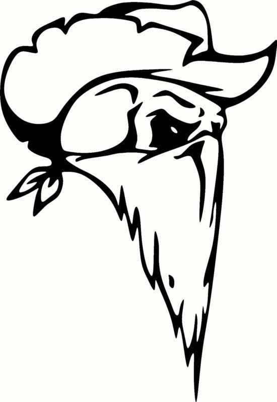 Find Cowboy Skull Universal Vinyl Cut Out Decal, Sticker