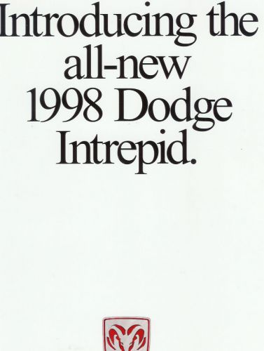 Sell 1998 DODGE INTREPID INTRODUCTION SALES BROCHURE