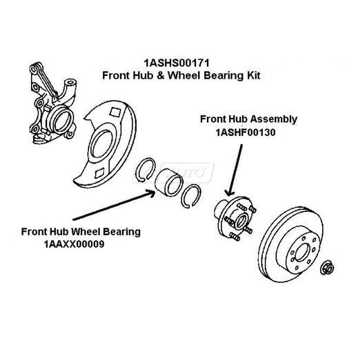 Sell Infiniti Nissan Front Wheel Bearing Hub Kit Set NEW