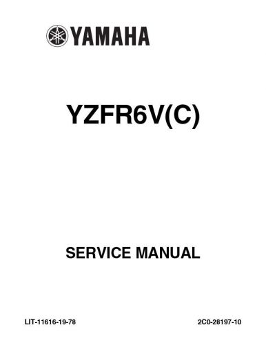 Find New Yamaha YZFR6V(C) YZF R6V REPAIR Service Manual