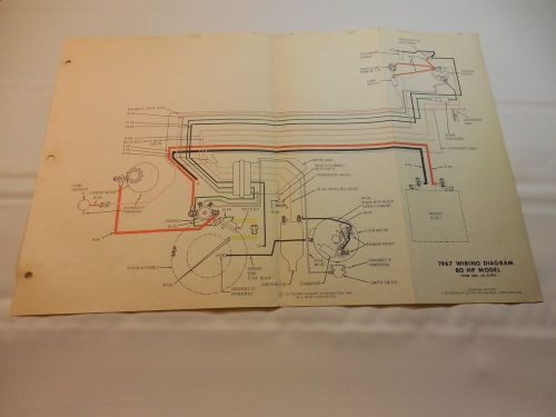 sell 1967 johnson 80 hp outboard wiring diagram vintage motor js - 1966 johnson  outboard wiring