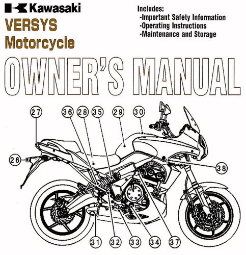 Sell 2009 KAWASAKI VERSYS 650 MOTORCYCLE OWNERS MANUAL