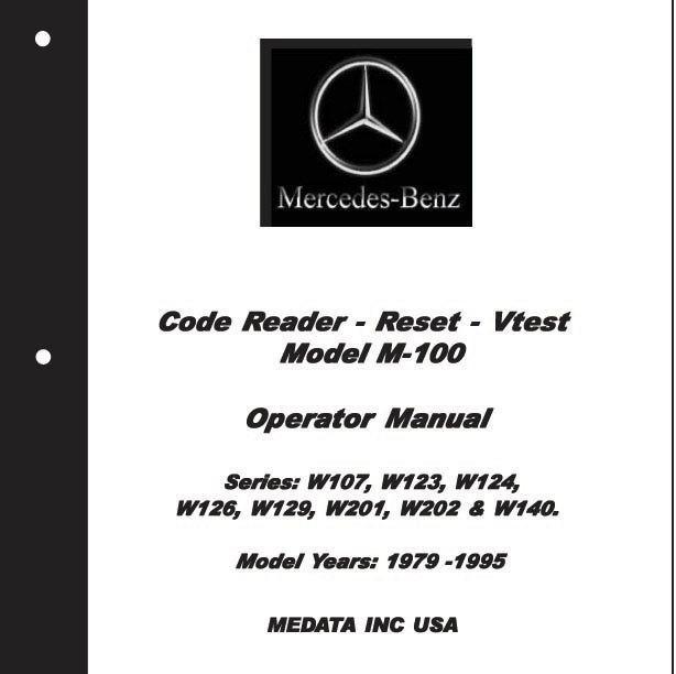 Purchase MERCEDES OBD1 CODE READER. V-TEST. W124, 126, 140