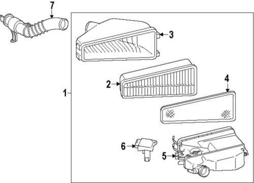 Buy TOYOTA OEM 2220422010 Mass Air Flow Sensor motorcycle