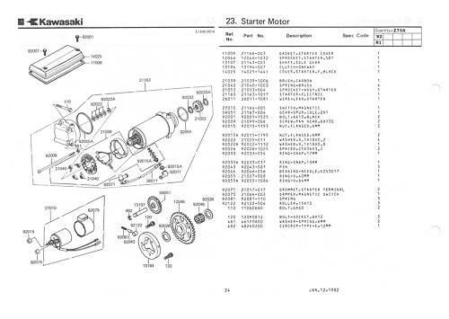 Buy KAWASAKI Parts Manual GPz750 R1 GPz750R Z750R 1982