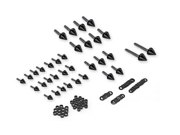 Find Motorcycle Spike Fairing Bolts Black Kit For 1999