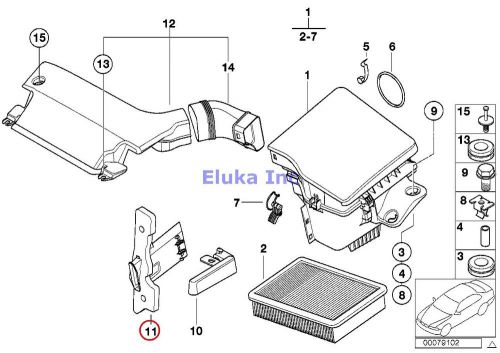Purchase BMW Genuine SUCTION SILENCER/FILTER CARTRIDGE Air