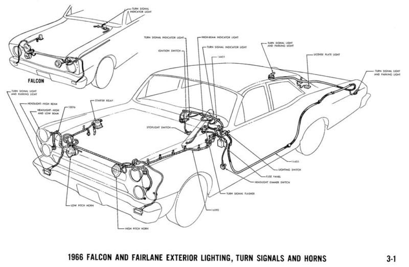 Sell 1966 FORD FALCON WIRING DIAGRAM MANUAL ON CD