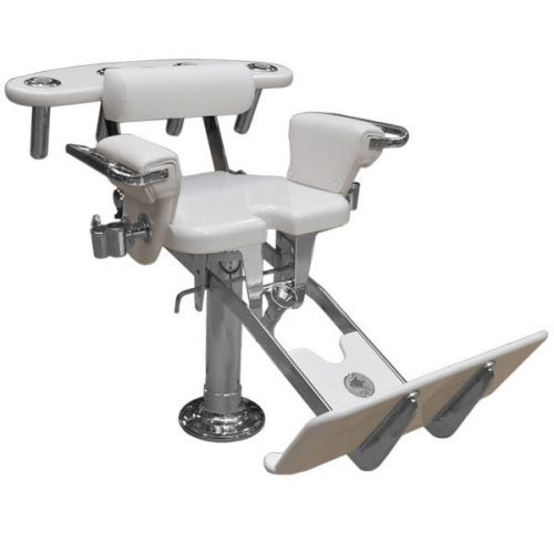 fishing fighting chair parts pop up high sell pompanette white 130 lb boat tournament seat single on 2040 com