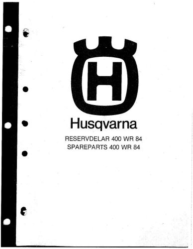 Buy Husqvarna Parts Manual Book 1984 WR 400 motorcycle in
