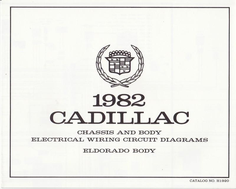 Find NOS 1982 Cadillac ELDORADO BODY WIRING CIRCUIT