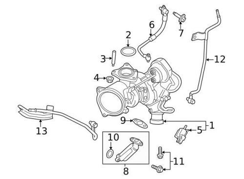 Find Genuine 2013-2016 Ford Turbocharger CJ5Z-6K682-D in