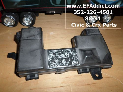 1989 Honda Civic Hatchback Fuse Box Diagram