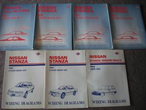 Sell 7 Wiring diagram manuals NISSAN STANZA 1988 1989 1990 1991 1992 1993  repair motorcycle in
