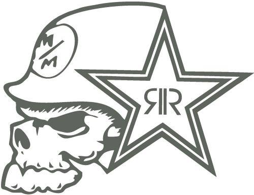 Buy METAL MULISHA ROCK STAR, Car Decal Sticker, CHARCOAL