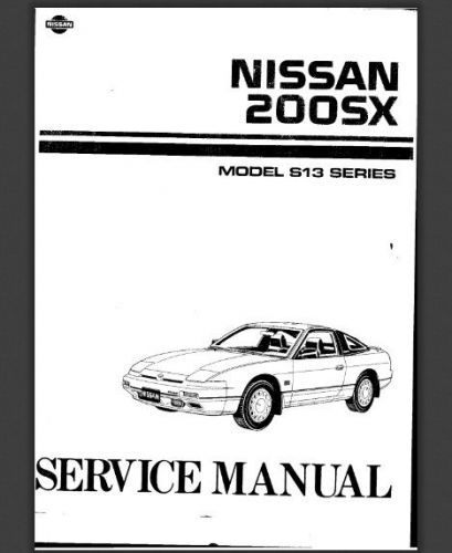 Buy Nissan 200sx Service Manual Repair FULL Silvia S13 S14