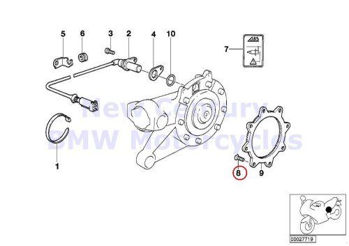 Buy BMW Genuine Motorcycle Brake Screw M8X15.5 ZNS3 MK
