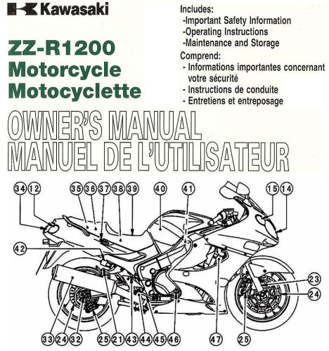 Find 2004 KAWASAKI ZZR1200 MOTORCYCLE OWNERS MANUAL