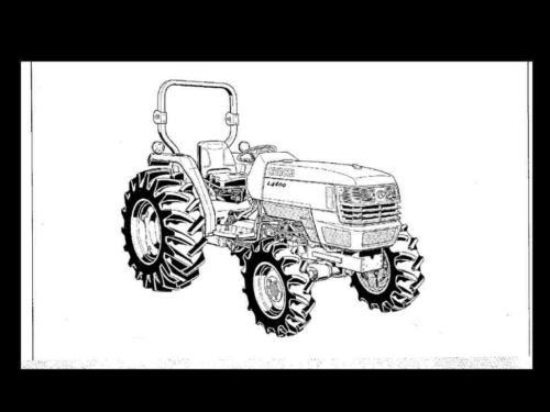 Sell KUBOTA L4400 L-4400 OPERATIONS & LUBE TRACTOR MANUAL