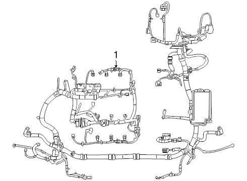 Buy Ford OEM Engine Wiring Harness 8A1Z14290HA Image 1