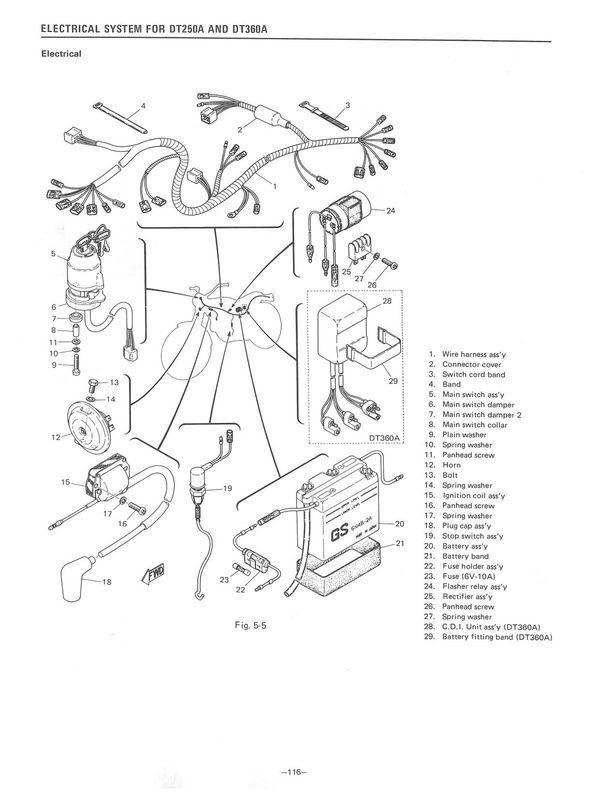 Buy YAMAHA Workshop Manual DT360 DT360A and DT250 DT250A