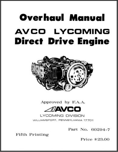 Purchase Lycoming Direct Drive Engine ENGINES Shop