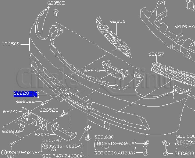 Find NEW OEM 2005-2006 INFINITI G35 SEDAN FRONT BUMPER TOW
