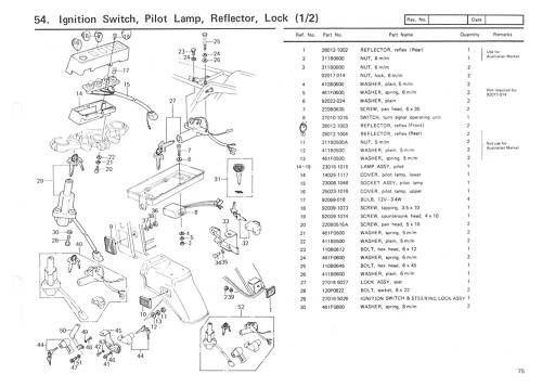 Find KAWASAKI Parts Manual KZ1300 Z1300 1979 1980 1981