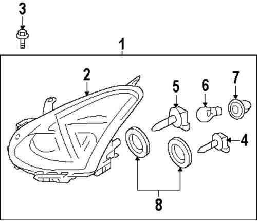 Sell NISSAN OEM 260101VK0A Headlight-Headlamp Assembly