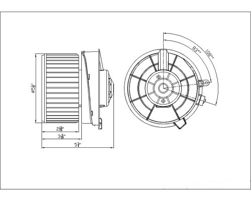 Buy TYC 700253 HVAC Blower Motor with Wheel New with