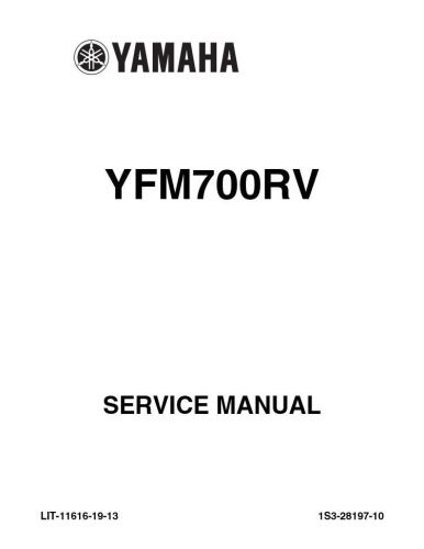Buy New Yamaha YFM700 YFM Raptor 700 RV Repair Service