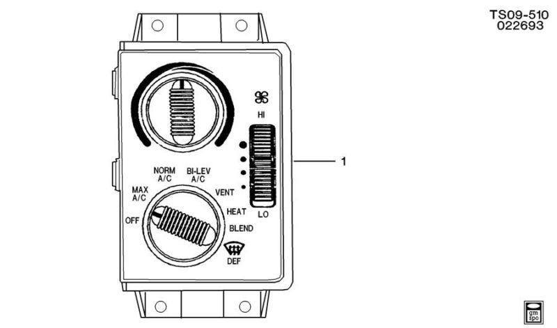Buy Genuine GM AC/Heater control panel replaces pt