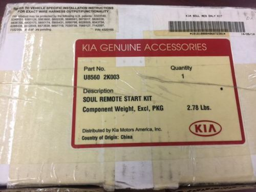 New Kia Genuine 2011 Kia Soul Remote Start Kit Model Year 2011 Only