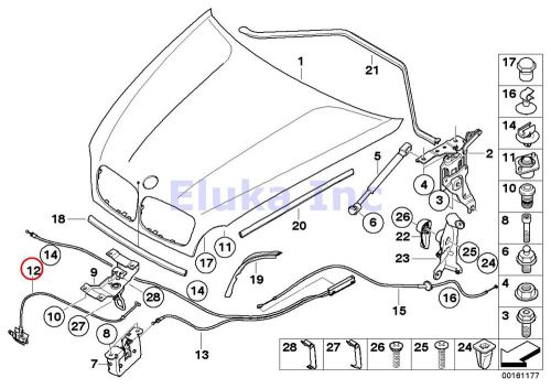 Sell BMW Genuine Engine Mechanism Hood Safety Catch Pull